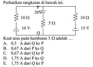 Pembahasan soal listrik dinamis