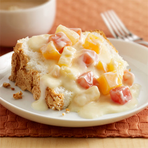 Grilled Pound Cake Tropical Fruits with White Chocolate Sauce Recipe