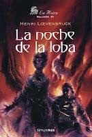"""Portada del libro """"La noche de la loba"""""""
