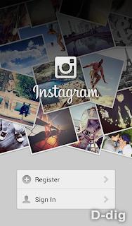 Gambar b. Tampilan awal Instagram