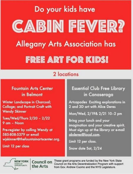 2/20-2/22 & 2/19-2/21 Art Classes For Kids