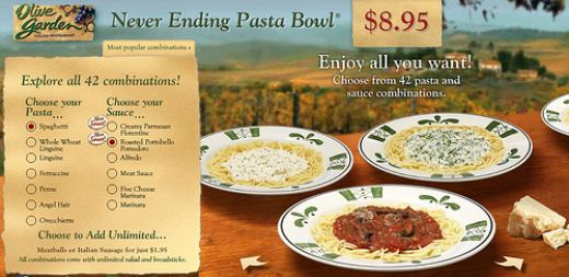 Olive garden copycat recipes neverending pasta for Olive garden endless pasta bowl