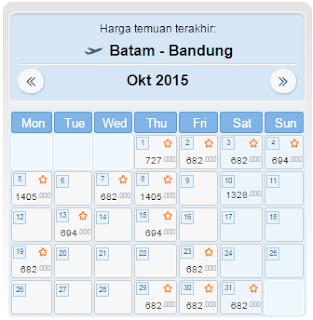 harga tiket pesawat batam bandung oktober 2015