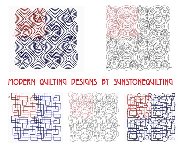 Modern Digital Quilting Patterns : Sunstone Quilting Patterns: New Edge-2-Edge designs ready to quilt!