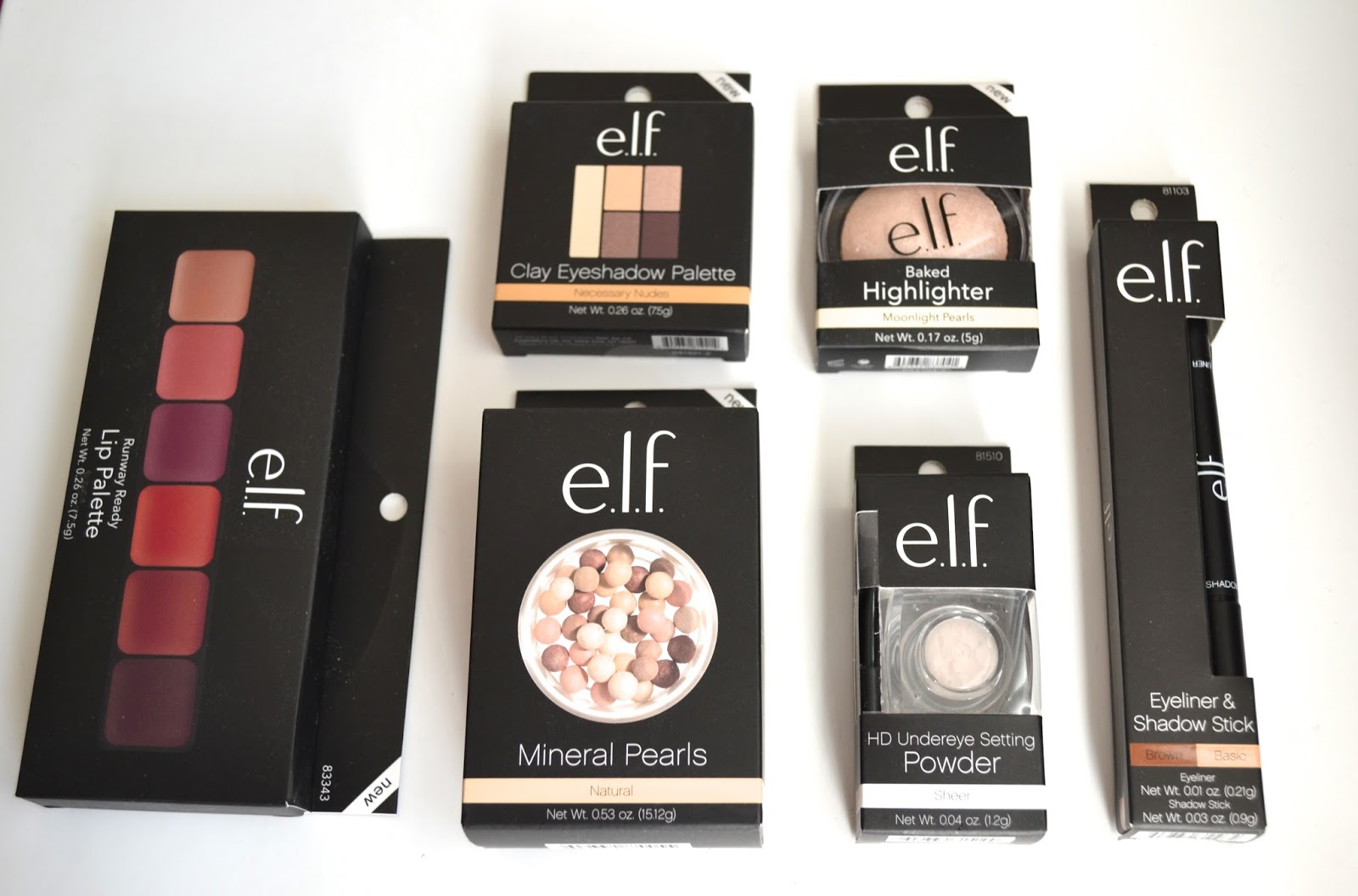 2 Pack - E.l.f. Clay Eyeshadow, Necessary Nudes 0.56 oz
