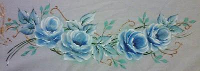 pintura-em-tecido rosas
