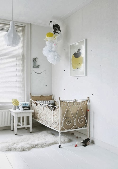 My scandinavian home a white and yellow children 39 s bedroom for Scandinavian childrens bedroom