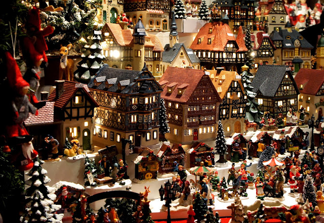 Miniature Christmas Houses at Neumarkt Christmas Market, Cologne