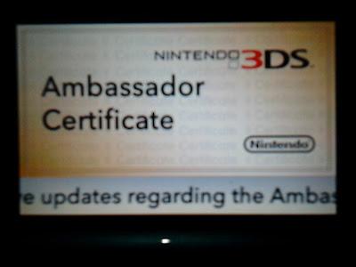 3DS Ambassador Certifiate