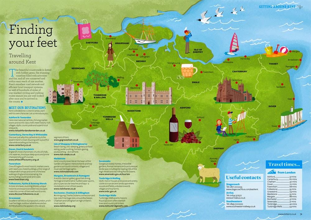 David Hurtado Illustration Blog Illustrated Maps for Visit Kent Guide