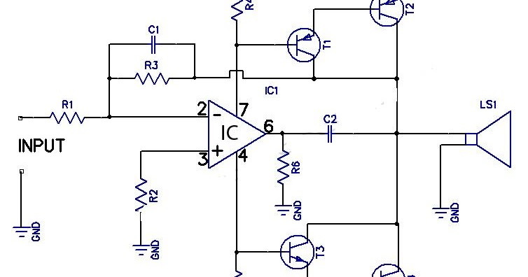 12w amplifier circuit using 741 op amp circuit diagram circuit diagram rh circuitslead blogspot com