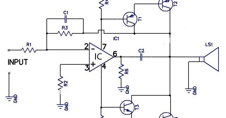 12w Amplifier Circuit Using 741 Op Amp Wiring Diagram