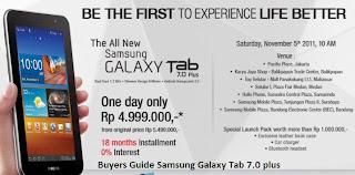 Harga Dan Spesifikasi Samsung Galaxy Tab 7.0 plus