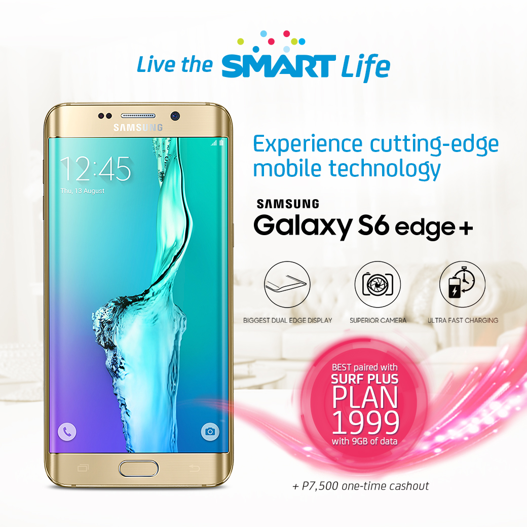 Samsung Galaxy S6 Edge Plus at Surf Plus Plan 1999