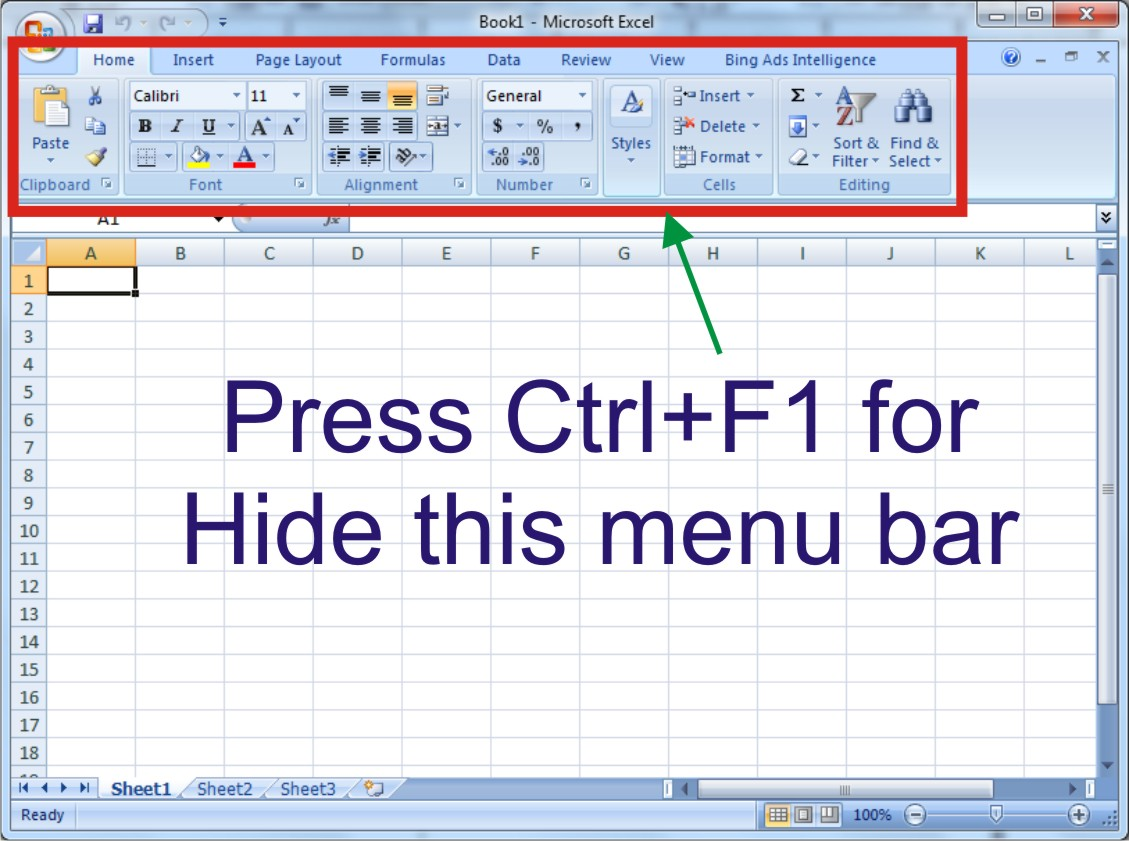 how to cut from excel using keyboard