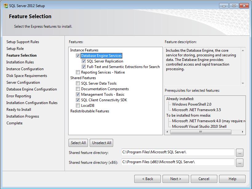 how to install sql server management studio 2012