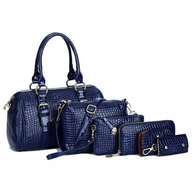 AA FASHION BAG ( 6 IN 1 SET) (BLUE)