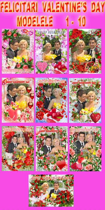 Felicitari Valentine's Day - Modelele 1 - 10