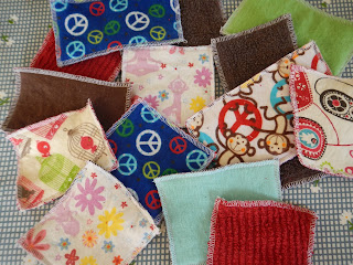 sewing scrap fabric napkins