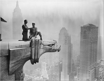 chrysler building men at the roof