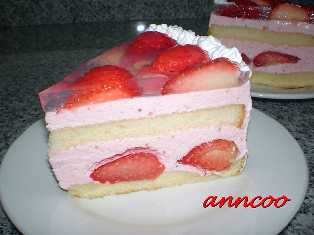 Strawberry Mousse Cake - Anncoo Journal