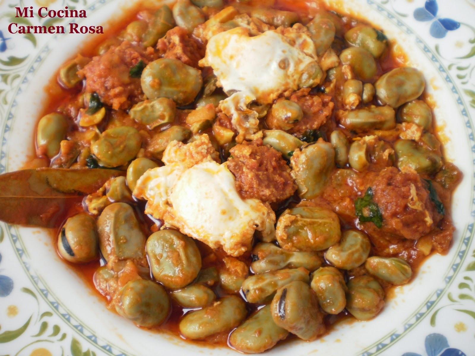 Como Cocinar Las Habas | Mi Cocina Sobrehusa O Sobreusa De Habas Frescas Con Chorizo