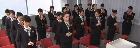 Instructor Mikami's class waits anxiously in the classroom.
