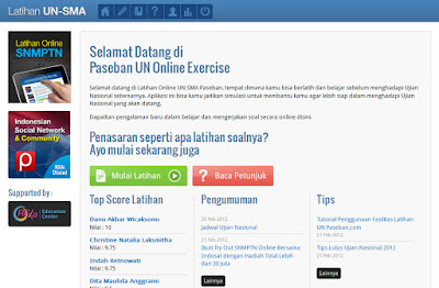 Try Out Online Ujian Nasional SMA