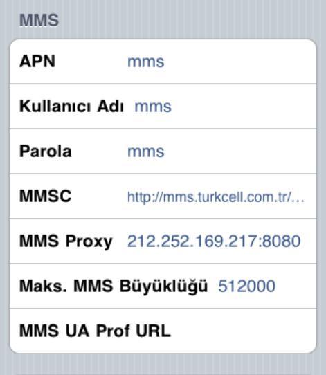 iPhone MMS APN