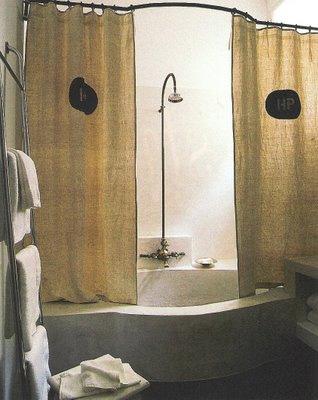 Côté Sud, Fev-Mar 2003 bowed bath and shower rod edited by lb for linenandlavender.net - http://www.linenandlavender.net/2009/07/sorrow-can-be-alleviated-by-good-sleep.html