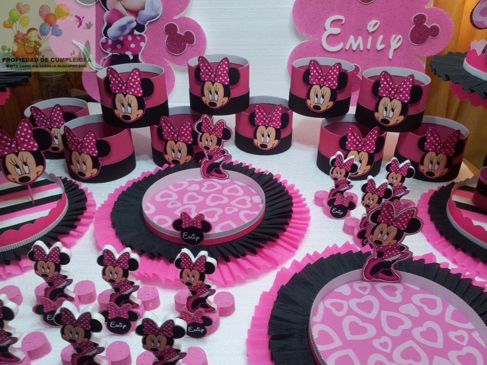 Decoracion Minnie Fucsia ~ Minnie Mouse Decoracion De Fiesta  Car Interior Design