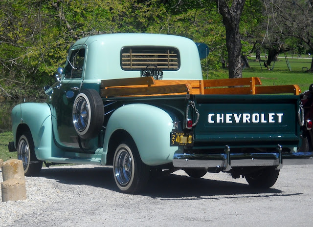 Restored Chevy 3100 1949 at White Rock Lake, Dallas, Texas