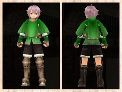 冒険者の服 緑色1 重量化(男)