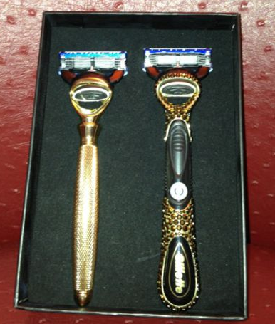 gillettes diamond and gold razors for ryan lochte