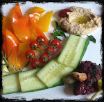 Olive Tapenade and Hummus with Garden Fresh Vegetables