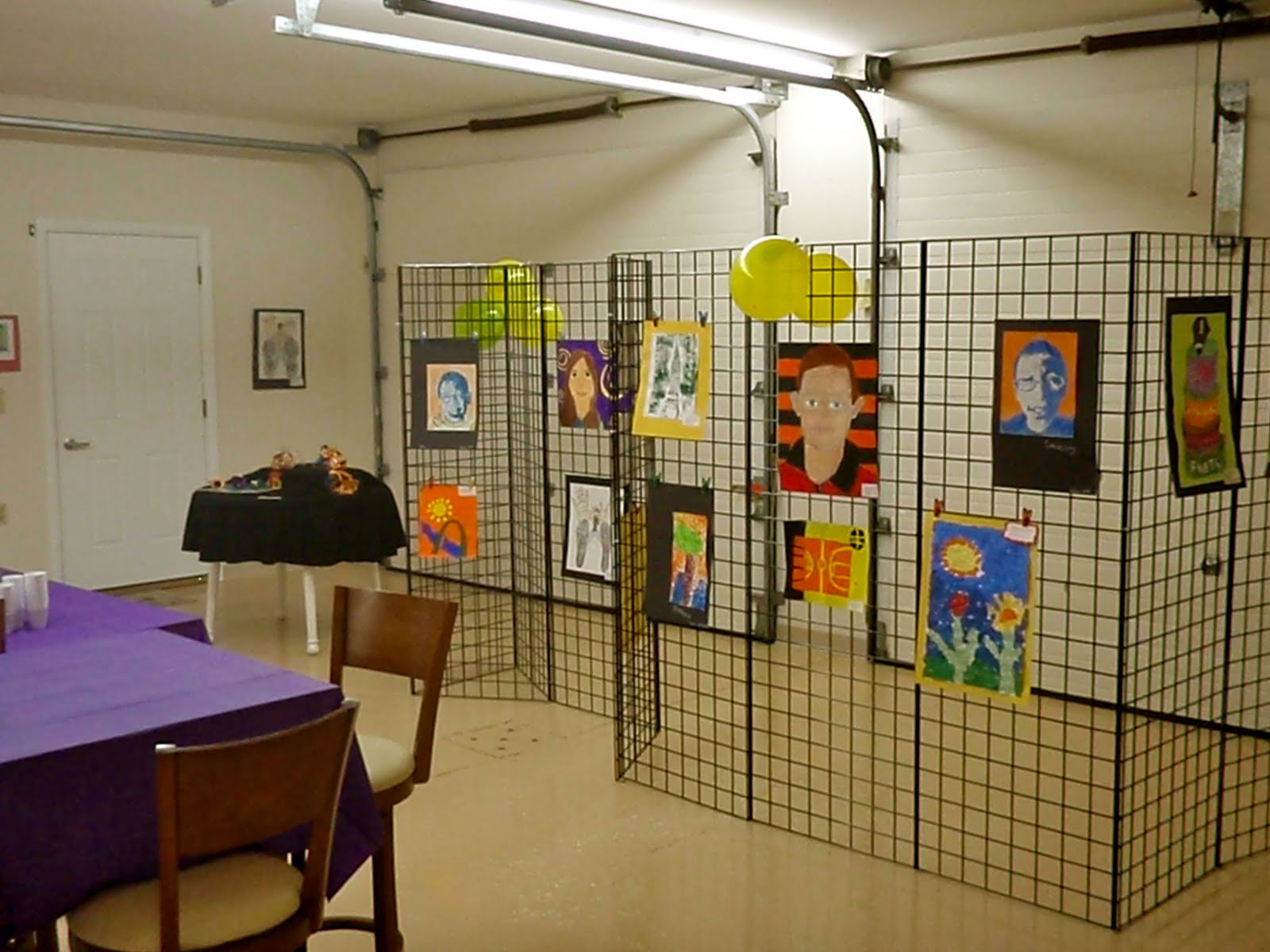 organized chaos art show at local art gallery
