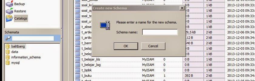 schema mysql