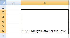 XLSX - Merge Data Across Rows - Java POI Example Output