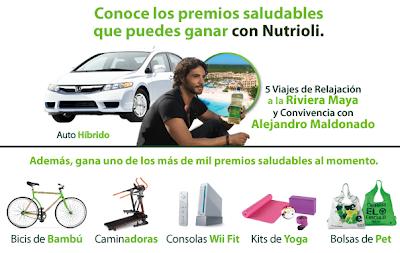 premios auto hona hibrido viaje riviera maya cancun, 15 bicicletas de bamboo, 10 caminadoras, 10 consolas Wii Fit , 250 kits de yoga , 750 bolsas ecológicas de Pet concurso aceite nutrioli Mexico 2011