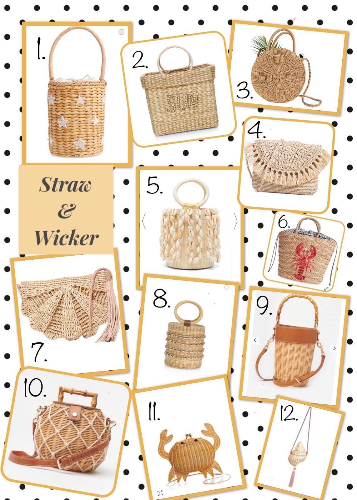 Straw & Wicker Bags: Spring 2020