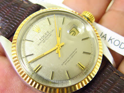 ROLEX OYSTER PERPETUAL DATE JUST GREY LINEN DIAL - ROLEX 1601