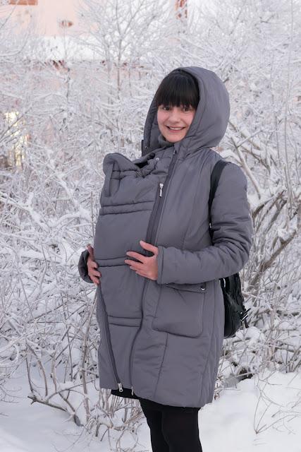 Гуляем зимой в слингокуртке!