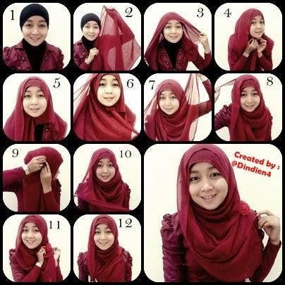 Model Jilbab Modern Segi Empat Segi Empat Modern Terbaru