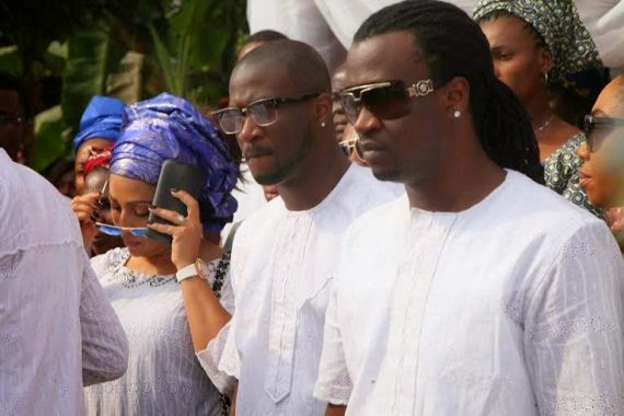 P-Square's Father's Burial Photo