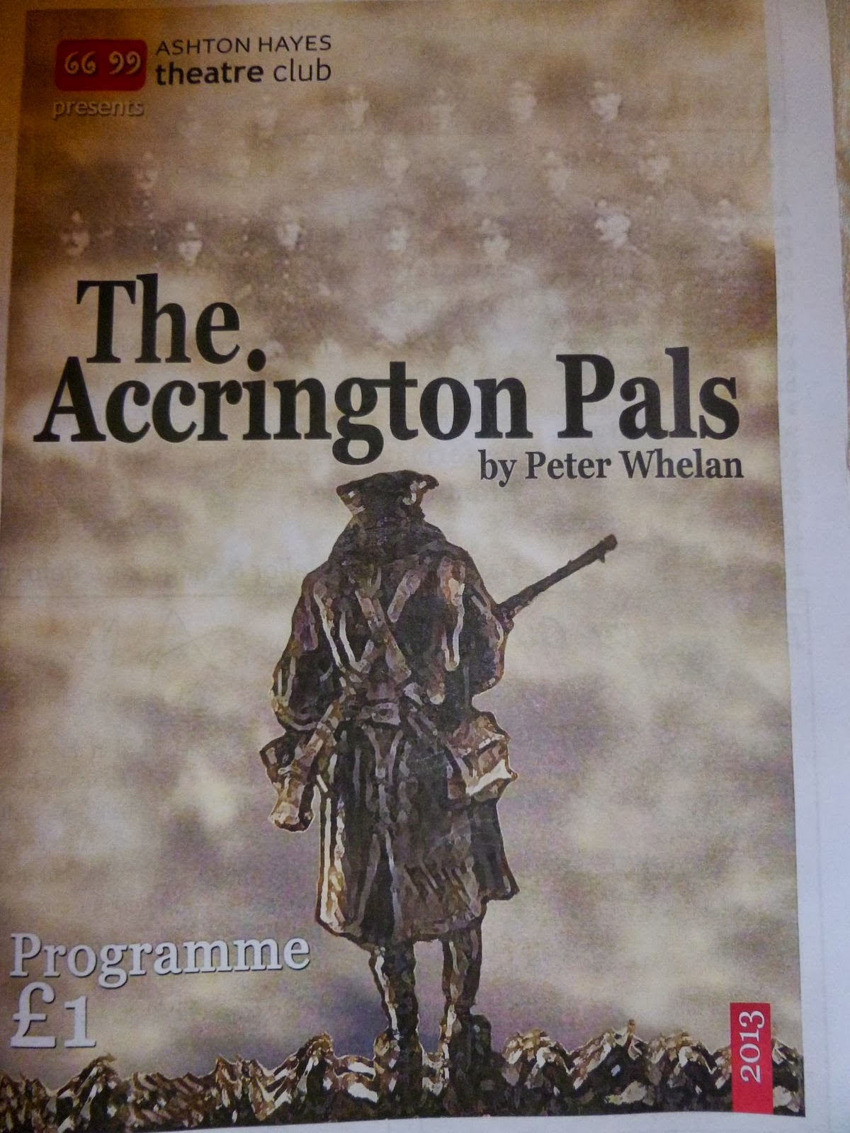 accrington pals essay Compare how comradeship is portrayed by peter whelan in the accrington pals and r c sherriff in journey's end what do the writers portrays about socia.