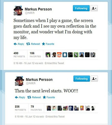 Notch Markus Persson funny gamer joke