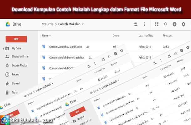 Download Kumpulan Contoh Makalah Lengkap dalam Format File Microsoft Word