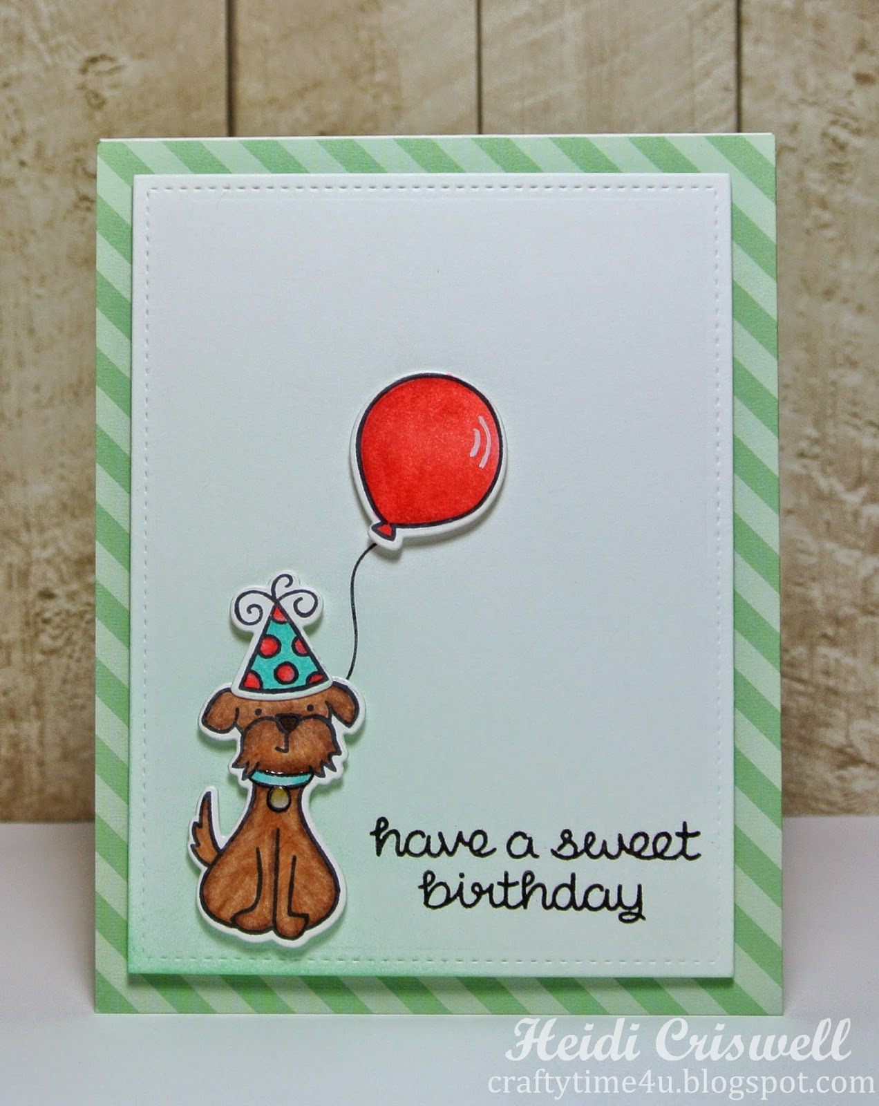 Crafty Time 4u Lawn Fawn Sweet Birthday Card