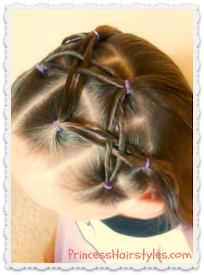 Woven twist headband hairstyle tutorial