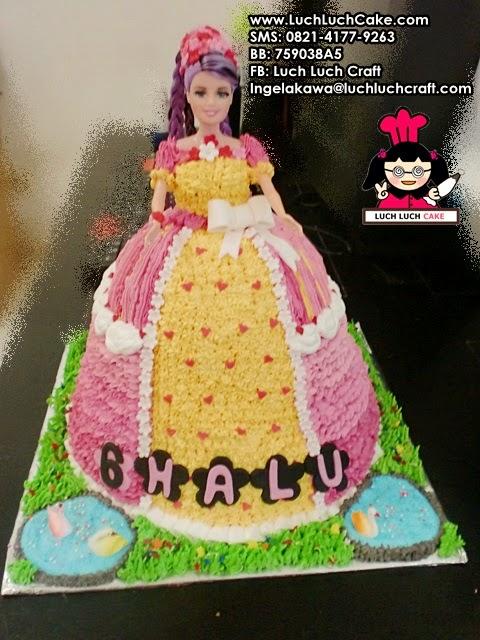 Luch Luch Cake Kue Tart Ulang Tahun Princess Barbie Pink